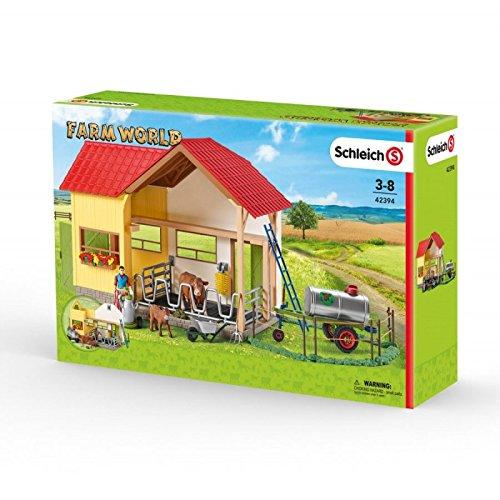 Schleich 42394 Farm World Großer Bauernhof mit Tieren und Zubehör