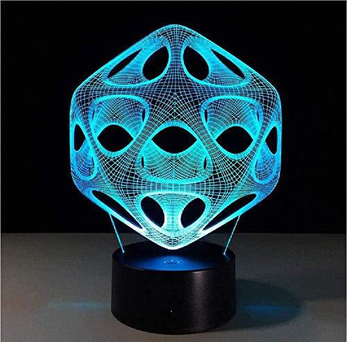 16 Farbwechsel 3D LED Tischlampe Licht USB Abstraktes Nachtlicht Bunte Lava Lampe für Kinder Weihnachtsgeschenk Fernbedienung
