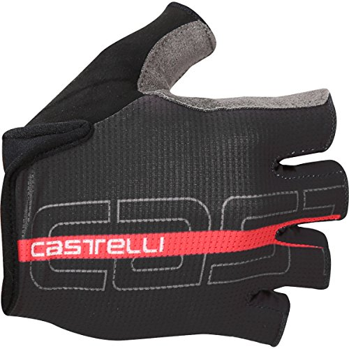 Castelli 2017 Tempo Cycling Gloves - K17032 (Black/Red, Small)