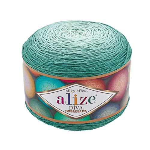 Alize Diva Ombre Batik-Effekt, 100 % Mikrofaser-Acryl-Garn, Häkeln, Kunst, Spitze, Handarbeit, 250 g 7369