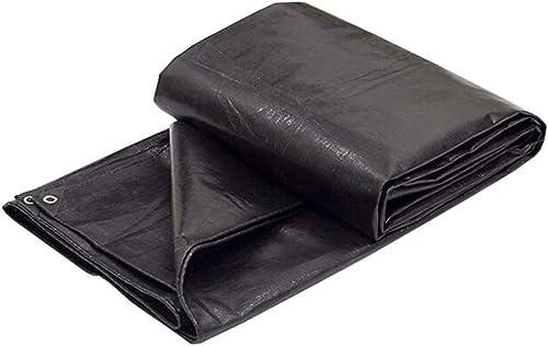 LIYFF- Tente de bache imperméable de bache de Camping imperméable de Camping de Tente de bache de Prougeection pour Le Camping et l'extérieur - UV résistant, Options de Multi-Taille (Noir)