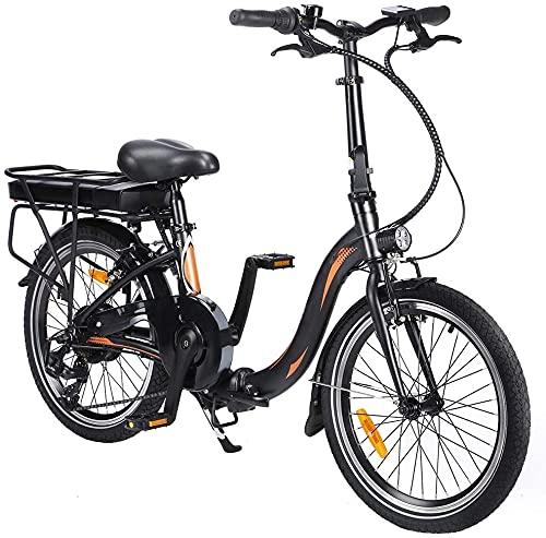 20 Zoll Elektrisches Fahrrad Electric Bike E-Bike Faltrad E-Bike Citybike Elektrofahrrad mit 10Ah 36V Wasserdicht IP54