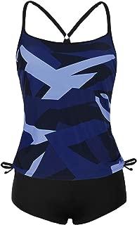 Women's Two Piece Swimsuits Tankini Top with Boyshorts Swimwear Set