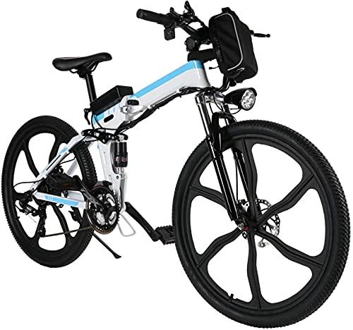 Elektrofahrrad E-Bike Klapprad, 26 Zoll Ebike Herren 250W Elektrisches Fahrrad Mit Herausnehmbarer 8Ah Batterie,...