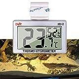 capetsma - Termómetro para Acuario, higrómetro Digital para terrario Reptil, Monitor de Temperatura y Humedad en acrílico y Vidrio terrario, preciso, fácil de Leer, sin Cables desordenados