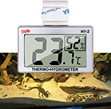 capetsma Reptile Thermometer, Digital Thermometer Hygrometer for Reptile Terrarium, Temperature and Humidity Monitor in Acrylic and Glass Terrarium,Accurate - Easy to Read - No Messy Wires… (1 Pack)