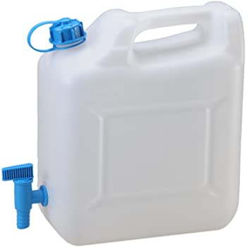 HÜNERSDORFF 817400 Wasserkanister  12 l HD-PE mit Auslaufrohr H331xB290xT160mm