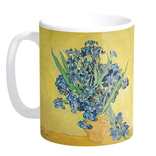 Les Trésors De Lily [Q9263 - Mug céramique 'Vincent Van Gogh' (Les Iris sur Fond Jaune) - 9.5x8 cm
