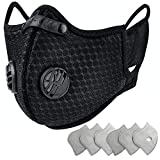 Dust Masks Reusable Dust Pollution Mask with Activated Carbon Filter and Earloop for Pollen Allergy Woodworking Mowing Running Outdoor Activities