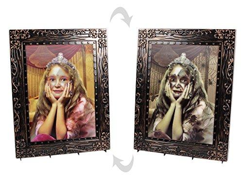 Halloween Bild Horrorbild Verwandlungsbild 29 x 37 cm Horror Party Deko mit So& & Licht von Alsino P978023