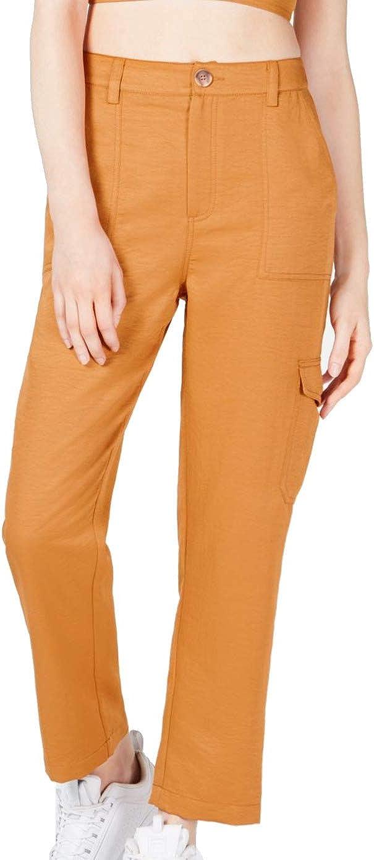 JOA Womens High Rise Comfort Waist Cargo Pants