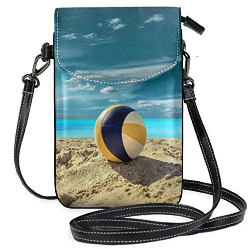 iRoad Mini Geldbörsen Taschen Baseball Strand Sand Print Geldbörse Tasche mit Schultergurt Crossbody Handtasche Handytasche Geldbörse Geldbörse Tasche für Frauen Mädchen