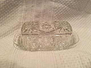 anchor hocking star of david butter dish