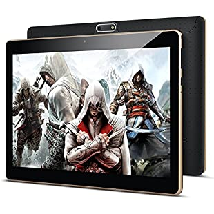 """10.1"""" Inch Android Tablet PC,PADGENE T7S 2GB RAM 32GB Storage Phablet Tablet Quad Core Unlocked 3G Cell Phone Tablets Dual Camera Sim Card Slots, Wifi, GPS, Bluetooth 4.0,1280x800 HD IPS Screen Display, Google Play [2018 New Release]:Cryptools"""