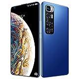 FJYDM Teléfono Inteligente Desbloqueado, Teléfono Celular De 128GB con Expansión Android 10, Pantalla De 7.2 Pulgadas, Cámara De 21MP + 42MP, Batería De 5600Mah 5G Teléfono Desbloqueado,Azul