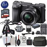 Sony Alpha a6400 Mirrorless Digital Camera w/ 16-50mm Lens (Black) and Striker Deluxe Bundle