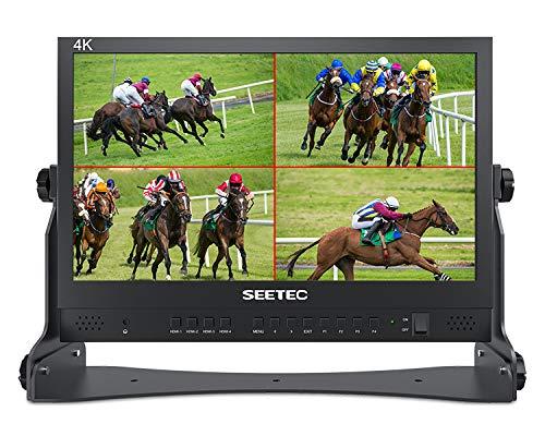 SEETEC ATEM156 15,6-Zoll-Live-Streaming Broadcast Director Monitor mit 4 HDMI-Eingängen und vierfach geteiltem Display für Atem Mini Video Switcher Mixer Pro Studio Fernsehproduktion