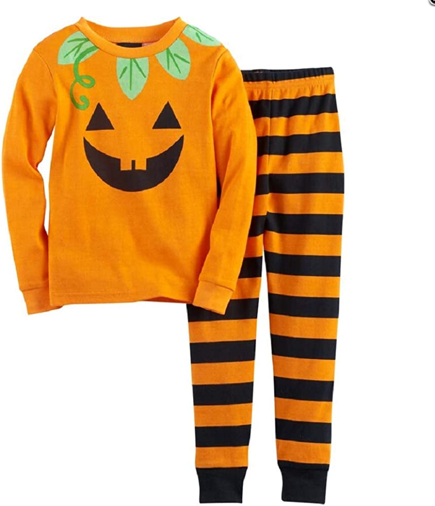 Jellifish Halloween Graphic Top & Bottoms Pajama Set