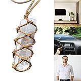 Healing DT Gemston Wand Reiki Hangings - Colgante de Cristal de Cuarzo Amatista Blanco Natural