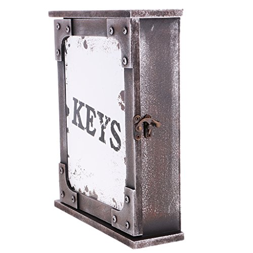 Gazechimp Vintage Boîte Suspendue en Bois Organisateur de Porte-clés pour Cadeau Collection Décoration Murale - Blanc