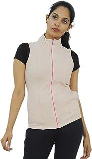 Lovable Women Girls Polyester Sleeveless Jacket in White Color- Sleeveless Jacket - SL-WH
