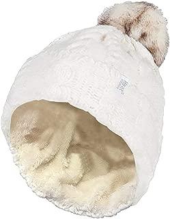 Heat Holders Women's Pom Pom Beanie, Cream, One Size