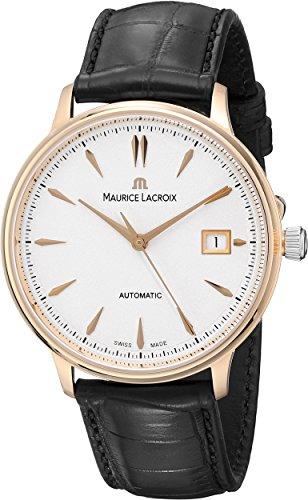Maurice Lacroix Les Classiques Date Automatik Uhr, ML 155, 18K Gold, 38mm, Leder
