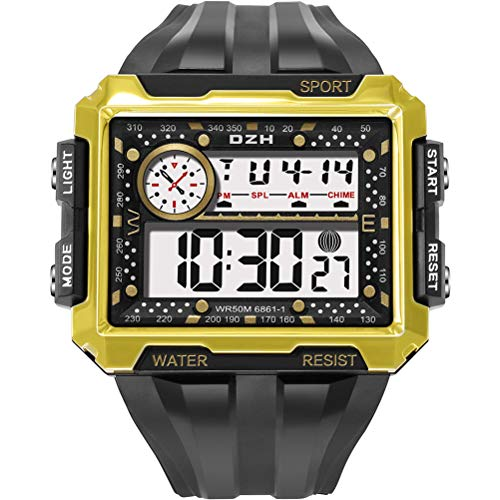 Elektronische Digitaluhren mit quadratischem Bildschirm, leuchtende wasserdichte Herrenuhren, Outdoor-Sportuhren, Geschenke für Jungen