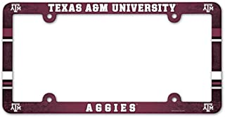 WinCraft Texas A&M Aggies Official NCAA 12 inch x 6 inch Plastic License Plate Frame by 900708