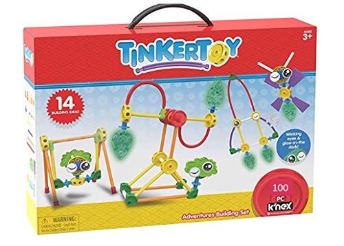 Tinkertoy Adventures Building Set - 100 Parts - Ages 3 & Up...