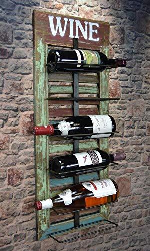 Livitat® Wandregal Wein Weinregal Flaschenregal Shabby Chic Vintage LV5012
