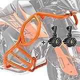 Set Defensas + Faro Adicional S2 para KTM 790 Adventure/R 19-21 Naranja