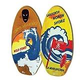 Beach Art - Tabla de skimboard de madera, 105 cm, diseño Cerdeña