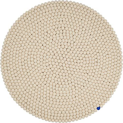 myfelt Filzkugelteppich Big One beige — 140 cm
