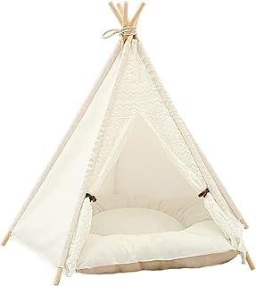 VILLCASE Husdjur tipi hundar tält bärbar sällskapsdjur tält hus avtagbar och tvättbar katt tält hund/katt säng lekhus med ...