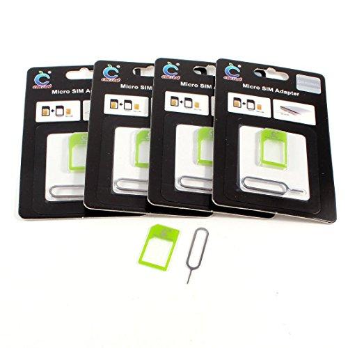 5 DealMux juego 2-in-1 micro-SIM para el estándar-SIM-Tarjetas-adaptador para teléfono-verde