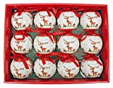 Tracht País plástico bolas de navidad 6cm 12piezas.–Bolas de Navidad con...