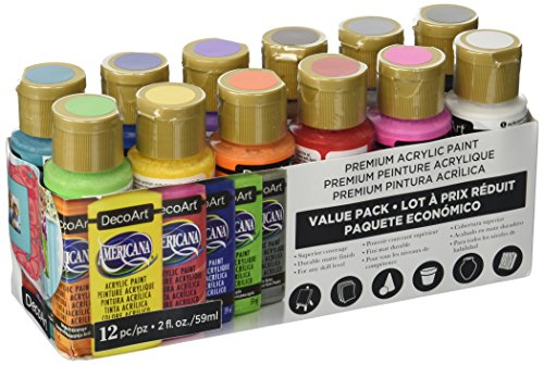 DecoArt Americana Acrylic Paint Value Pack 12pc
