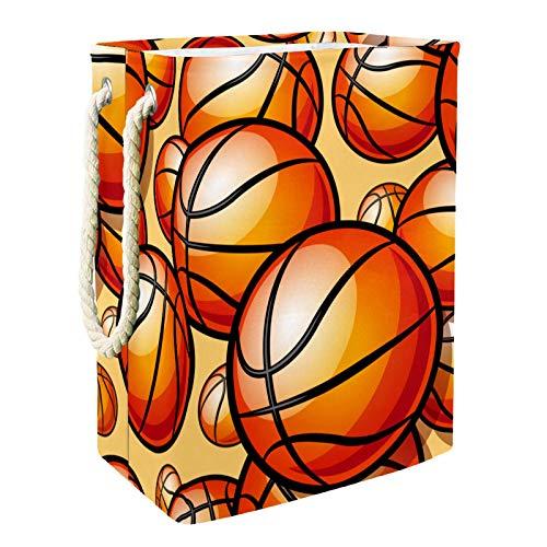 Cesto de la ropa Baloncesto deportivo pintado Cesta De Almacenamiento Plegable Para Niños Para Sala De Juegos De Guardería 49x30x40.5 cm