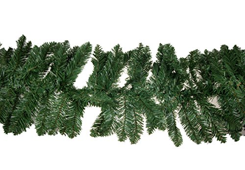 Clever Creations Christmas Pine Branch Garland Festive Holiday Décor | Realistic Pine Branches | Poseable Artificial Pine Needles | Classic Christmas Decorations | 8.5' Long