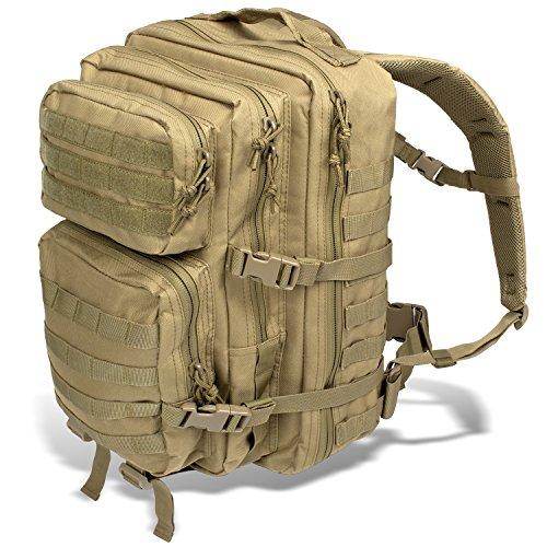 Black Snake US Assault Pack II Damen und Herren Rucksack Outdoor Backpack Coyote