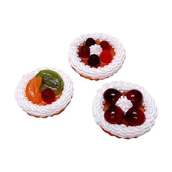 Flora-cal Products Fruit Tarts Fake Food 3 Inch Assorted 3 Pack