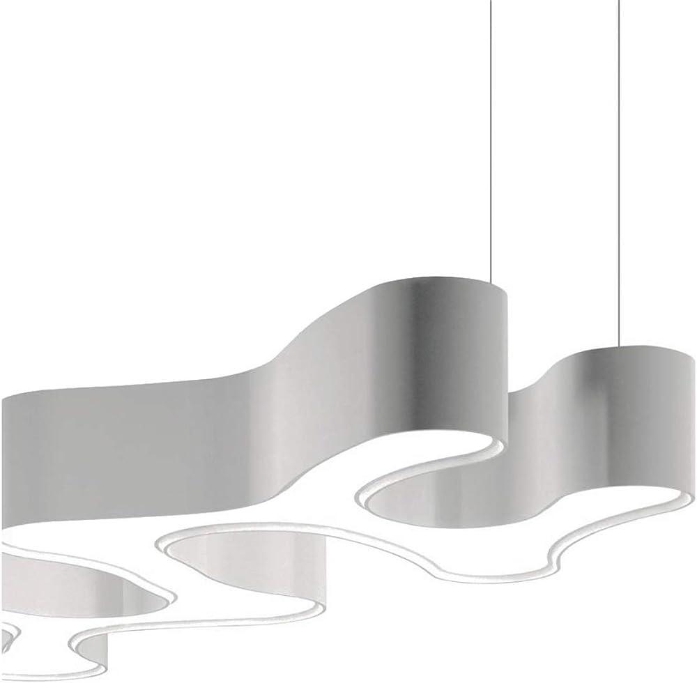Vibia,lampada a sospensione regolabile, 3 led 9, 2 w 500 ma, con diffusore in metacrilato, serie ameba 2210.03