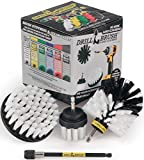 Drill Brush Car Washing and Detailing Power Brush Kit with Long-Reach Removable...