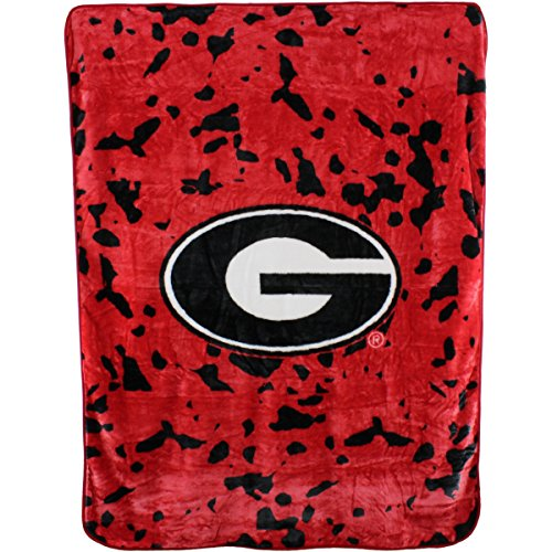 College Covers NCAA Rachel Throw Blanket, 63' x 86', Georgia Bulldogs