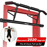 MUSCOACH Pull Up Bar for Doorway with Angled Grip Door Frame Chin Up Bar for Home Gym Exercise,No...