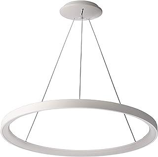 Lámpara circular colgante LED 60 W círculo suspensión luz mesa 3000 K 230 V