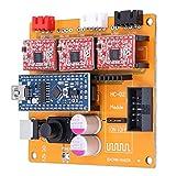 Cuerpo pequeño y tiene un rendimiento estable Compatible con láser de 2 pines y 3 pines Producto de alta calidad. Adecuado para motores paso a paso de 2 fases de 4 cables (dentro de 2 A), módulos láser de 10 W (12 V, 5 V) Uso para máquina de grabado ...