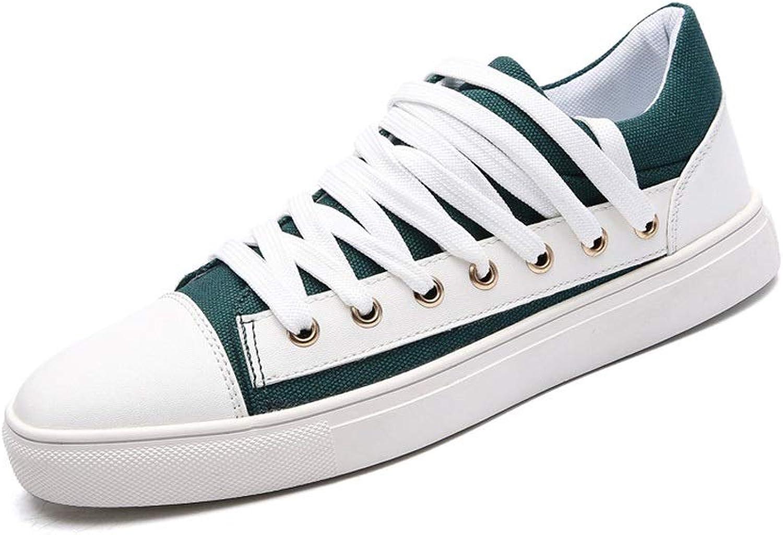 Ailj Canvas shoes, Autumn Single shoes Canvas Upper Casual shoes Men Flat shoes (Green)