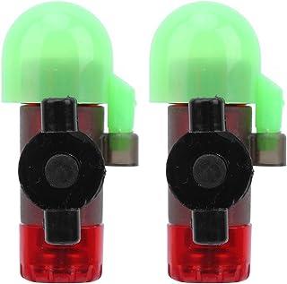 2 Juegos de Alarma de Pesca con caña, Sensor de Pesca Nocturna, Alarma de caña de luz, Tipo de Poste de Bloqueo Sensible a...